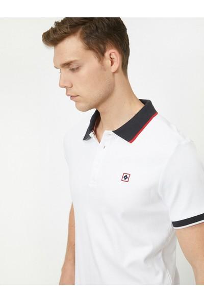 Koton Erkek Polo Yaka Kısa Kollu Islemeli T-Shirt