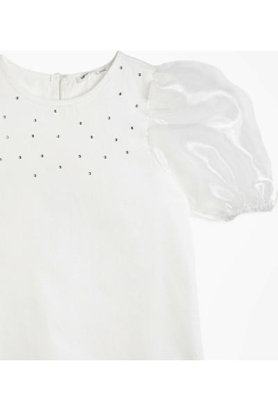 Koton Kız Çocuk Tas Detaylı Bluz