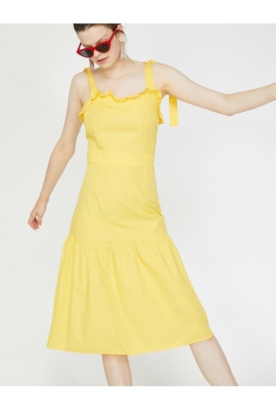 Koton Kadın The Summer Bright Dress - Canli & Yaz Rengi Elbise
