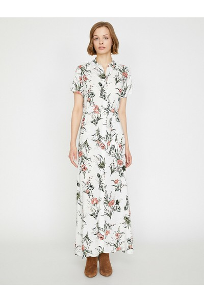 Koton Kadın Yirtmaç Detaylı Elbise