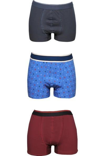 Meteks 3'lü Erkek Boxer