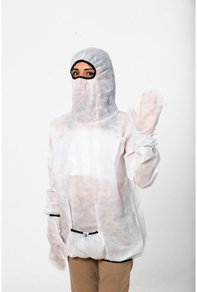 Anticor Koruyucu Fonksiyonel Yağmurluk Beyaz S-M