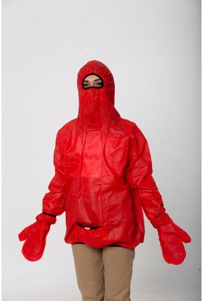 Anticor Koruyucu Fonksiyonel Yağmurluk Kırmızı L-Xl