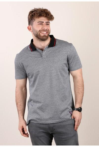 Alexandergardı Siyah Polo Yakalı T-Shirt Gri (E19-P2 06422)