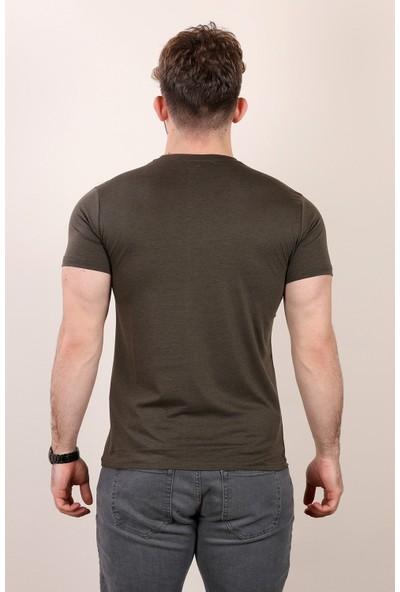 Alexandergardı Slım Fıt Bisiklet Yaka T-Shirt Siyah (E19-P1AG04)
