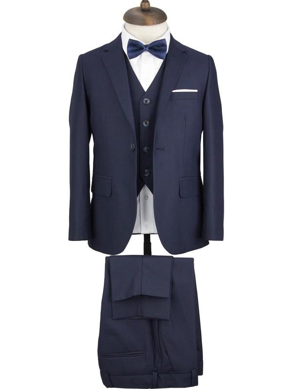 Middleist Çocuk Yelekli Takım Elbise Koyu Lacivert 4 Yaş