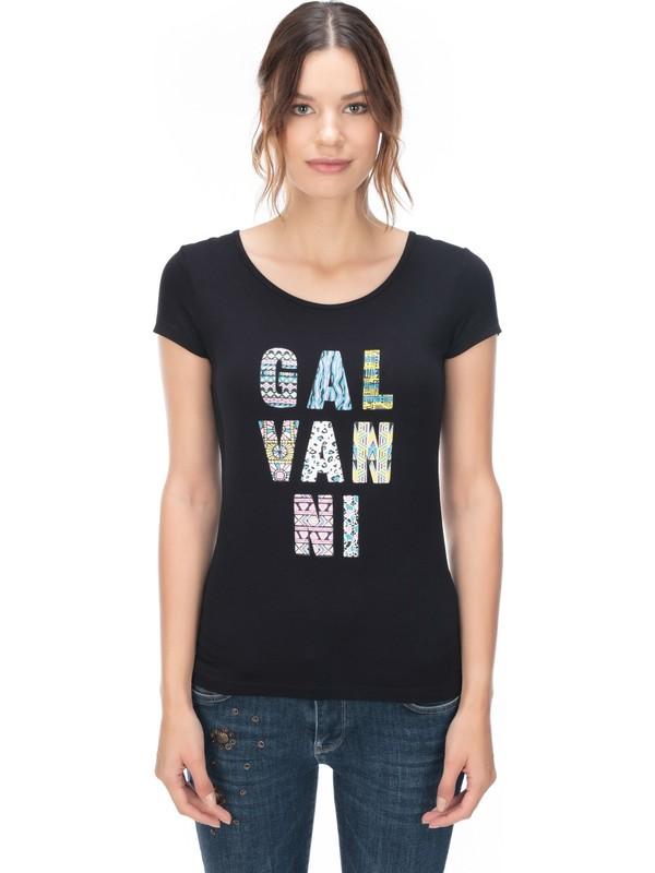 Galvanni Kadın Siyah T-Shirt - Dımıtro