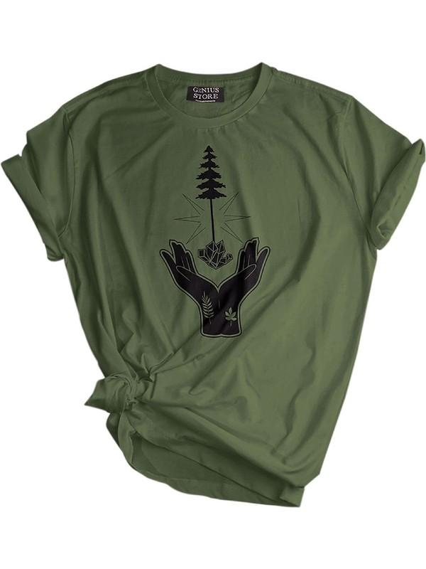 Genıus Store Erkek Tişört Outdoor Baskılı T-Shirt