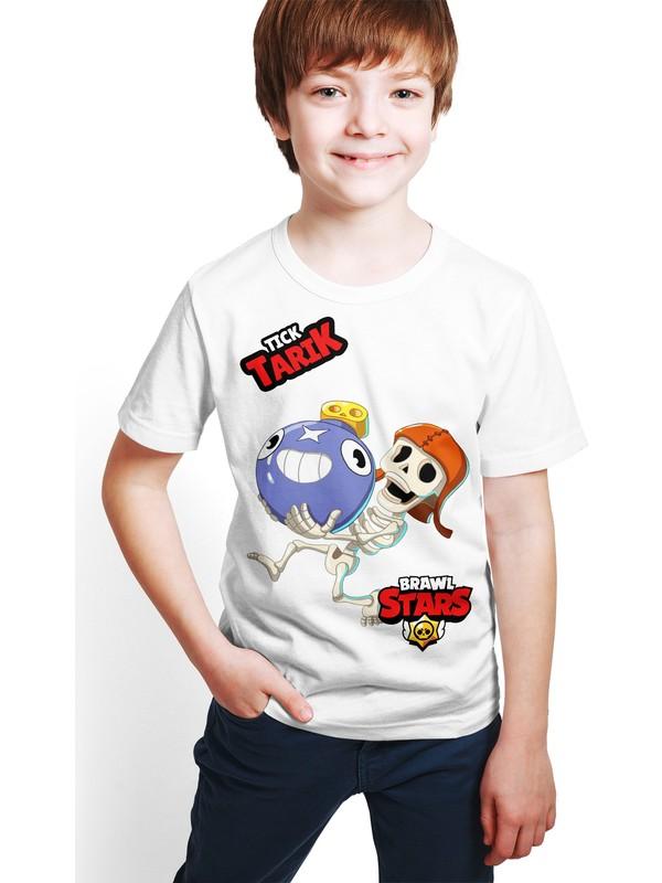 Brawl Stars - Tick - Dijital Baskılı Beyaz Kişiye Özel T-Shirt E-02