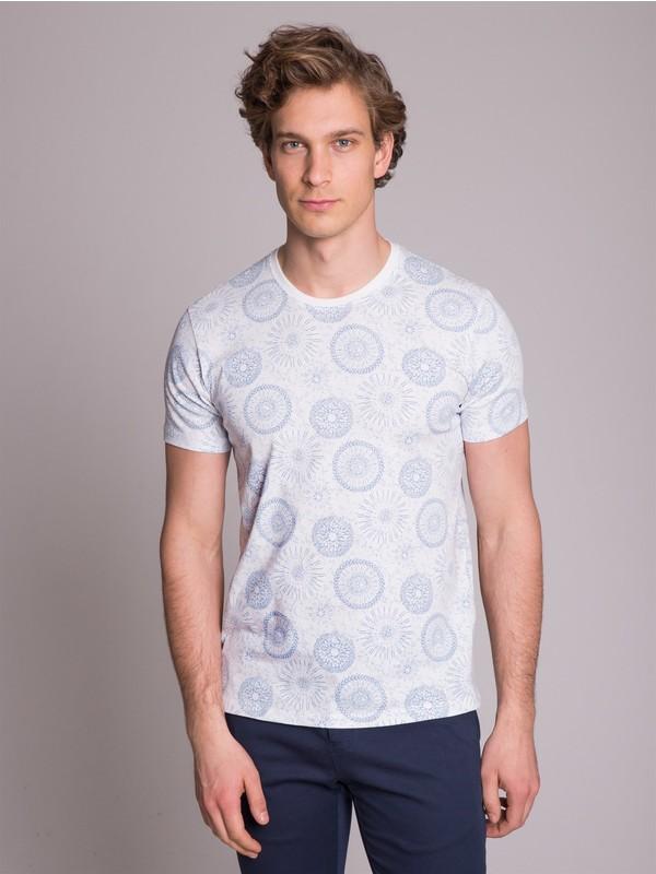 Dufy Baskı Erkek T-Shirt - Slim Fit