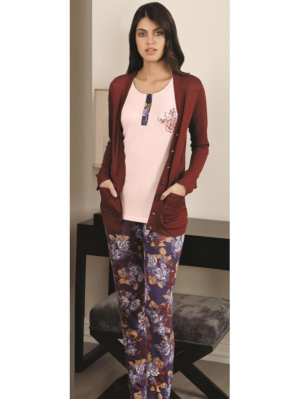 Fc Fantasy Kadın 3'lü Hırkalı Alt & Üst Pijama Takımı