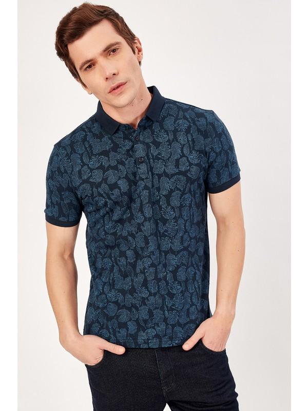 Manche Lacivert Erkek Polo Yaka T-Shirt Me20S234973