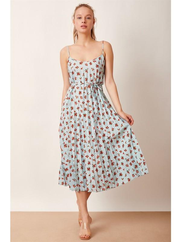 Never More Pilili Çiçekli Elbise