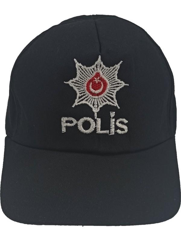 Mercantex Çocuk Polis Kepi Siyah