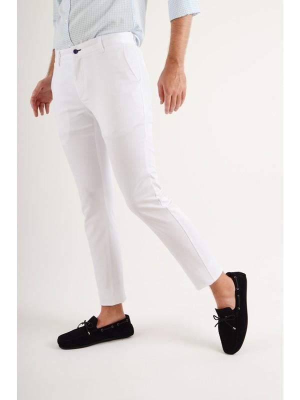 Luppo Club Günlük Kumaş Beyaz Erkek Pantolon Salacak