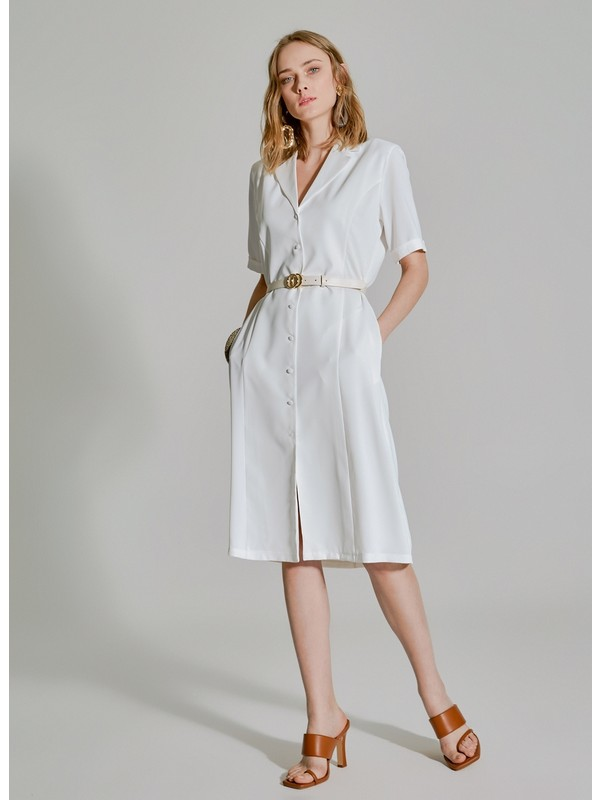 People By Fabrika Kadın Cep Detaylı Gömlek Elbise
