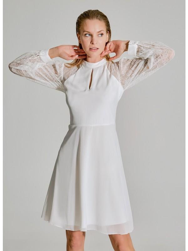 People By Fabrika Kadın Dantel Detaylı Elbise