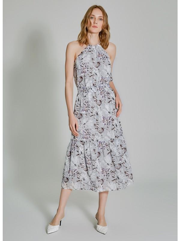 People By Fabrika Kadın Desenli Kolsuz Elbise