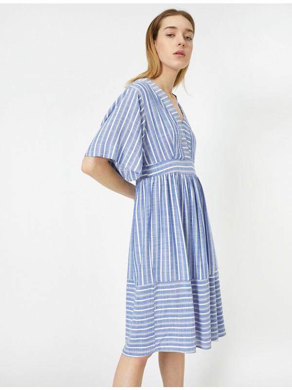 Koton Kadın Çizgili Elbise