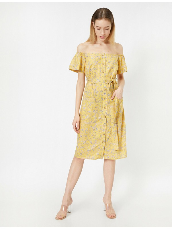 Koton Kadın Dügme Detaylı Elbise