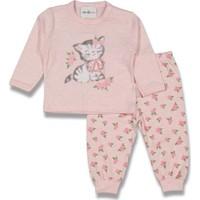 Dandini Kedili Güllü Kız Bebek Pijama Takım