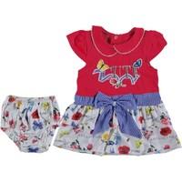 Tofigo Baby Cute Nakışlı 2 Parça Çiçekli Mini Elbise 9 - 12 Ay