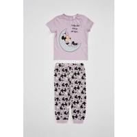 DeFacto Kız Bebek Minnie Mouse Lisanslı Pijama Takımı R1140A220SM