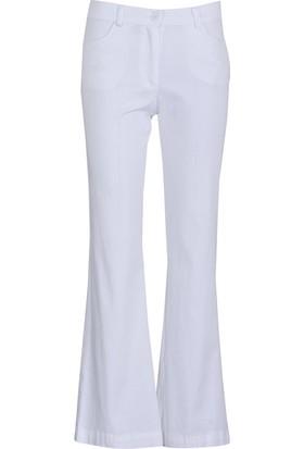 Lema 22030 Buyuk Beden Pantolon Beyaz