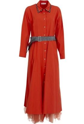 Bize Fashion 2366 Kadın Elbise Mercan