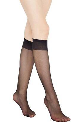 Öğretmen 15 Ince Tül Pantolon Çorabı Siyah