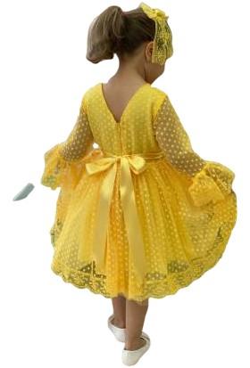 Pumpido Kız Çocuk Puanlı Elbise