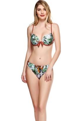 Louren Double Pushup Gri Bikini Takımı B1089