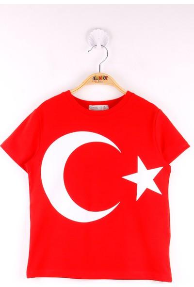 Toontoy Unisex Ay Yıldız Baskılı Pamuklu T-Shirt