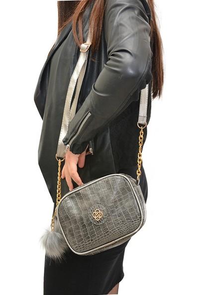 Butinay Gümüş Kadın Omuz Çantası