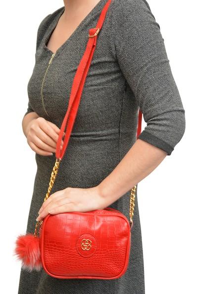 Butinay Kırmızı Kadın Omuz Çantası