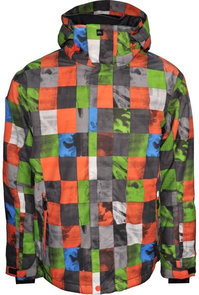 Quiksilver Erkek Kapusonlu Mont U001152 - Çok Renkli