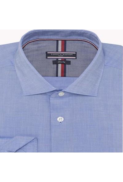 Tommy Hilfiger Erkek Polo Yaka Gömlek TT0TT02731 U001942 - Mavi