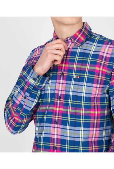 Tommy Hilfiger Erkek Gömlek DM0DM05983434 U001952 - Lacivert
