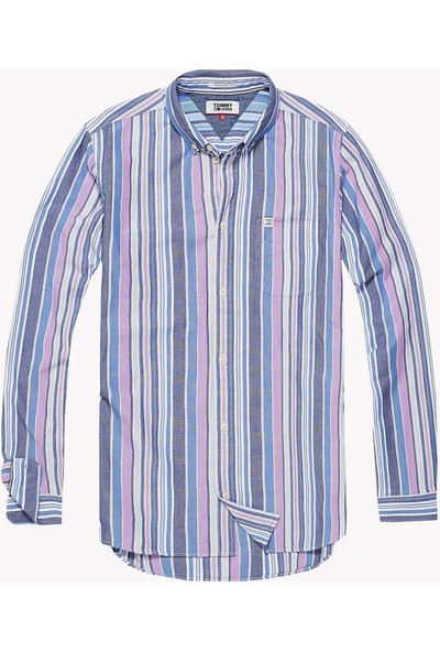 Tommy Hilfiger Erkek Gömlek DM0DM04492 U001965 - Mavi