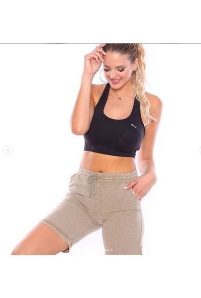Mojerhermosa Bej Kadın Sport Şort
