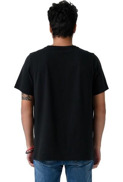 Schmart Nakışlı Siyah Oversize Erkek Tshirt