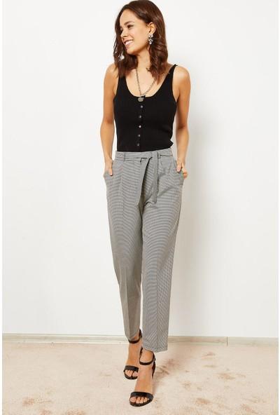 Zafoni Kazayağı Kuşaklı Kadın Pantolon