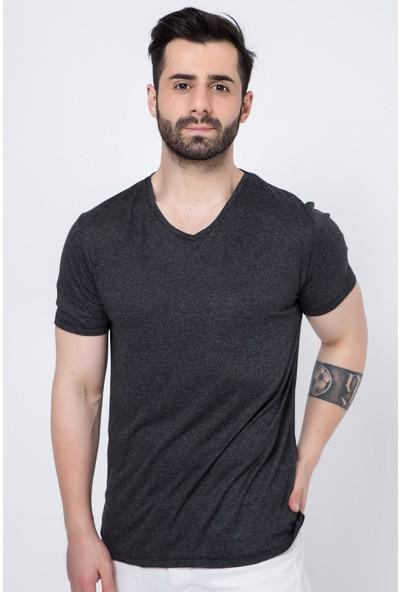Zafoni V Yaka Erkek T-Shirt
