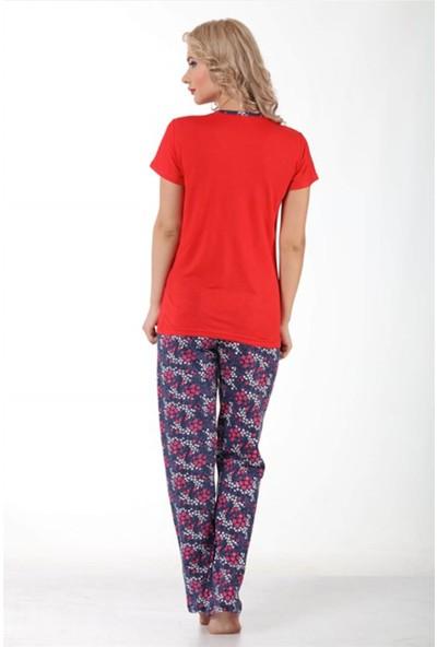 Akbeniz Kadın Kısa Kol Pijama Takımı 3156