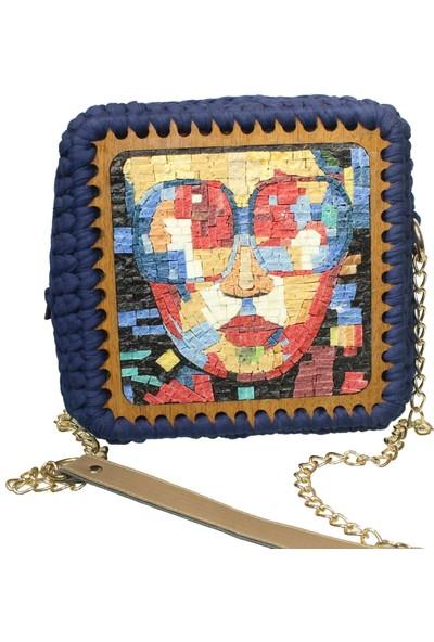 Antik Mozaik Picasso Çanta - Doğal Taşlardan Mozaik El Yapımı Çanta