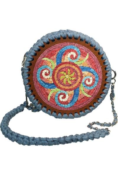 Antik Mozaik Sonsuzluk Çanta - Doğal Taşlardan Mozaik El Yapımı Çant