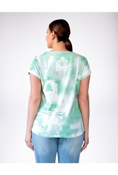 No Secret Büyük Beden Love Baskılı T-Shirt