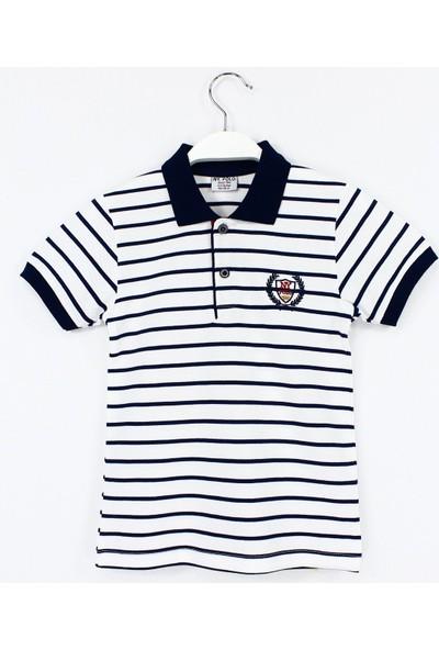 Ny. Polo Polo Yaka Erkek Çocuk T Shirt 4 - 11 Yaş Aralığı Beyaz Lacivert