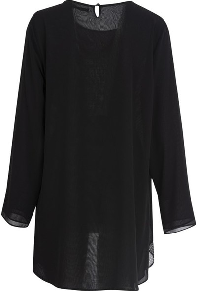 Gilda 44501 Buyuk Beden Bluz Siyah