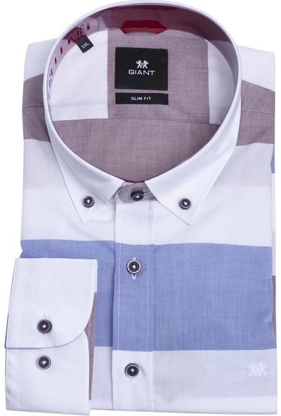 Giantport M705.V Erkek Gömlek Beyaz